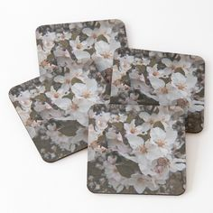 White Springs, Spring Blossom, Cold Drinks, Coaster Set, Floral Tie, It Is Finished, Prints, Photography, Cool Drinks
