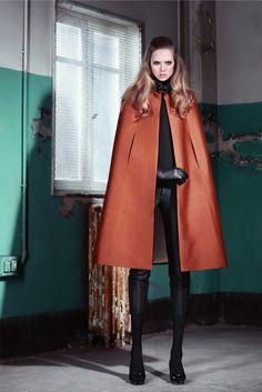 fashion, prefal 2014, style, vogue paris, cape, dsquared2 prefal, look books, photo galleries, coat