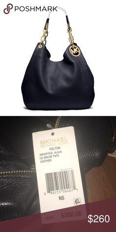 $158 MICHAEL KORS Fulton Flap Continental Black Leather Clutch Wallet Bag  NWT | Deals | Pinterest | Michael kors fulton, Clutch wallet and Fulton