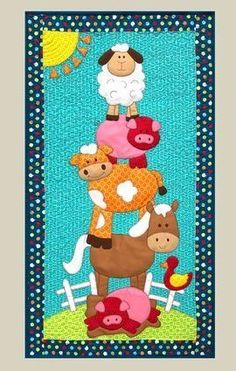 64 Ideas For Colchas Patchwork Bebe Pattern Patchwork Baby, Patchwork Quilting, Applique Quilts, Quilt Baby, Owl Baby Quilts, Mini Quilts, Blue Quilts, Quilting Projects, Sewing Projects