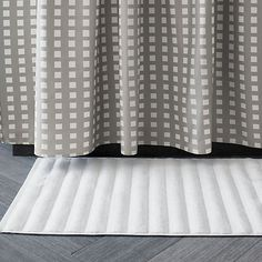 Marimekko Kullervo Grey Shower Curtain In Curtains Rings