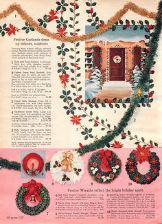 1962 Sears Christmas - Garlands
