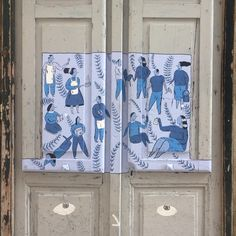 I see... An illustration by @marianaamiseravel ! It was a treat to walk up this street by chance and find this and other paintings on the doors. #porto is getting so pretty!