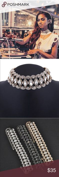 """🎉HP🎉Glam Style Choker Absolutely Stunning Australian Crystal Choker 2"""" extender. Silver Plated for wear and shine longevity Brand New Boutique Quality if you have any questions please don't hesitate to ask 💕 one size fits most Jewelry Necklaces"""