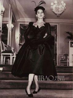 Dior showroom 1950 | 图】名模Victoire Doutreleau和迪奥(Dior)品牌的故事:身材 ...
