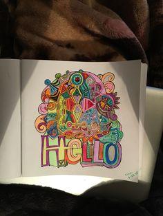 HELLO Hallmark Adult Coloring Page