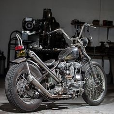 Here it is ...The Sunday June 26 2016 Giveaway Bike for BF8.  It's a 1940 Harley-Davidson Knucklehead Chopper built by one of the best ...Mr.Jeff Leighton @wretched_hive This bike was built solid as a rock & built to ride...The bike has all the good stuff & the right look .. It's 1940 HD frame/motor/springer along with a list of other desirable parts. If you want to WIN & ride home a totally dialed Real Knucklehead Chopper you gotta come to Born-Free . More details on this giveaway bike…
