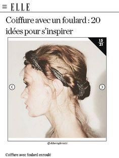 【ELLE】アイデア 14|速攻でトレンド感アップ! スカーフを使ったヘアアレンジアイデア20|エル・オンライン