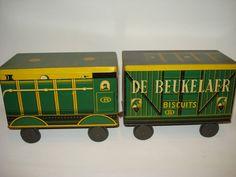 Online veilinghuis Catawiki: Zeldzaam Voorraad Blik - De Beukelaer Biscuits - Trein - ca 1930