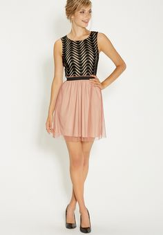 2fer dress with lacy top and tulle skirt - #maurices