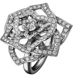 Rose Ring by Piaget in white gold and diamonds.