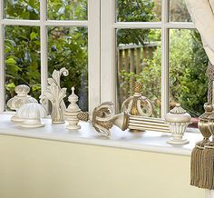 Wood Poles & Finials....Country Antique Cream Collection
