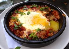 Samfaina - oven roasted catalan vegetable stew [tomatoes, zucchini, eggplant, red pepper, onions] with hen egg - YUM! (10.1.13) | Yelp