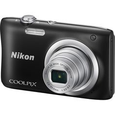 Nikon Coolpix A100, Point and Shoot Camera, 20 MP, 5X Optical Zoom, Black