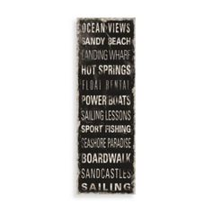 Ocean Signs Wall Art - BedBathandBeyond.com