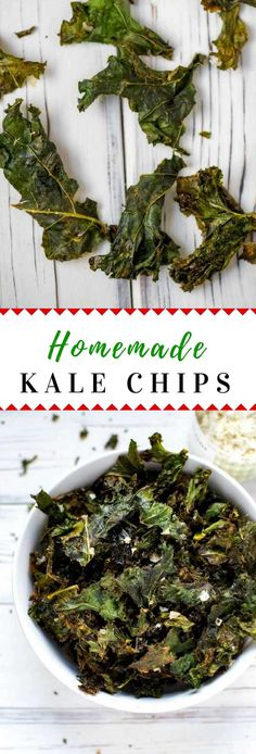 Learn how to make Homemade Kale Chips!  This healthy snack is so easy to make in the oven.  #kale #healthy #healthyrecipe #healthysnack #wendypolisi via @wendypolisi