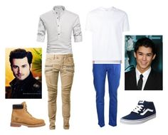 """""""Enzo Seth chegada."""" by larissa1012 on Polyvore featuring Balmain, Timberland, PT05, Thom Browne, Vans, men's fashion and menswear"""