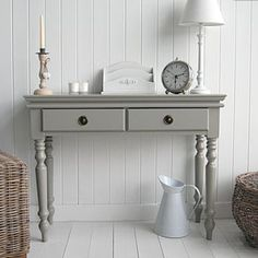 The White Lighthouse hallway furniture. Browse our range of small hall furniture, hallway console tables and hall storage to match every style of interiors, size and budget. Hall Furniture, Cottage Furniture, Grey Furniture, Furniture Makeover, Bedroom Furniture, Annie Sloan Furniture, Chalk Paint Furniture, Furniture Plans, Kids Furniture