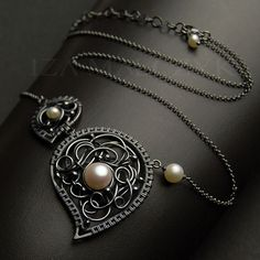 the Black Paisley necklace