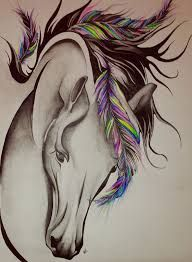 Image result for tribal horse fluid tattoo
