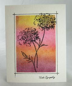 Masked Field Flowers by - Cards and Paper Crafts at Splitcoaststampers Sympathy Cards, Greeting Cards, Stampin Up, Flower Market, Cool Cards, Flower Cards, Beautiful Flowers, Masking, Creations