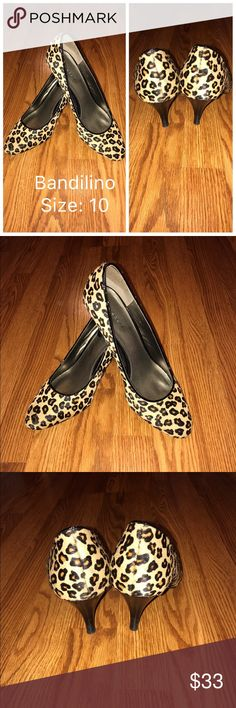 EUC women's Bandilino leopard high heel shoes EUC women's Bandilino leopard high heel shoes- super comfy Bandolino Shoes Heels