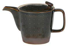 MIYA COMPANY Teapot, Brown Relief on OneKingsLane.com $49