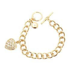 Jones New York Boxed Bracelet with Pave Heart Charm