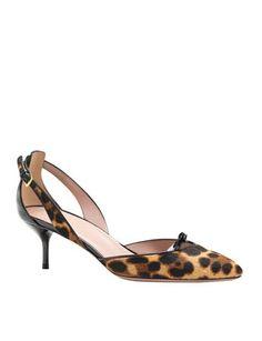 GUCCI Leopard-Print Calf Hair Pump