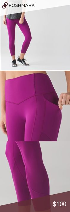 • Lululemon • All The Right Places Crop 8 New - Lululemon - All The Right Places Crop ll - Athletic Leggings / Tights  - Regal Plum Purple - Luxtreme  - Zip Free Pockets - Held In Sensation  - Size 8 - New with Tags lululemon athletica Pants Leggings
