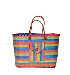 Misa Raffia Basket, Tote bag is one of our  best seller among our  handmade products. It has both inside and front pockets and a draw string.  It also has a leather handles.  This big tote is made with Raffia, Straw by the artisan women from Madagascar, Africa.  Dimensions: 20W x 14H x 10D