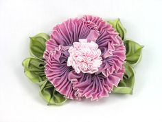 French Ombre Ribbon Flower Corsage Pinks by BeautifulBagsEtc, $16.95