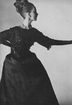 Brigitte Bauer for March Vogue 1964  Photo by Irving Penn