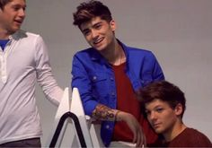 Zayn, Niall, and Louis photoshoot