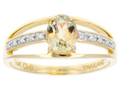 .79ct Oval Zultanite(R) With .05ctw Round White Diamond Accent 14k Yellow Gold Ring
