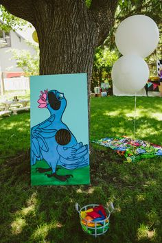 Jewel bean bag toss for Rio Birthday Party