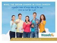 wazeefa1.com - The best job portal for finding latest #MiddleEast #jobvacancies. cost free registration easy profile building and multiple jobs to apply on wazeefa1