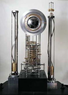 """the Long Now Clock - Prototype  Prototyp der """"Long Now-Clock"""", die 10.000 Jahre funktionieren soll  und dazu beitragen soll, unser derzeitiges Tun auch in seiner Konsequenz   für die Zukunft zu verstehen. Bildquelle und nähere Informationen: http://longnow.org  http://www.scilogs.de/wblogs/blog/der-anthropozaniker/allgemein/2012-09-19/das-lange-jetzt-anthropoz-n-fossilien"""
