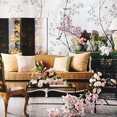 Conley & Co l Recent issue of Belle Magazine Au. Belle Magazine, Outdoor Furniture Sets, Outdoor Decor, Drawing Room, Chinese Style, Chinoiserie, Love Seat, Home Goods, Interior Design