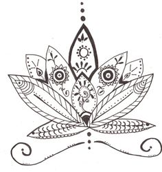 flor de loto dibujo tribal - Buscar con Google