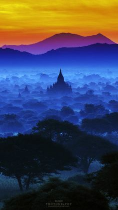 Magical Sky of Bagan, Burma - Explore the World with Travel Nerd Nici, one… Places Around The World, Oh The Places You'll Go, Places To Travel, Places To Visit, Around The Worlds, Bagan, Beautiful World, Beautiful Places, Beautiful Sky