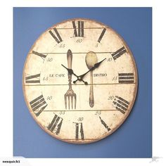 cafe bistro wall clock - Cork Cafe Decor