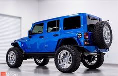BLUE BEAUTY 4 DOOR JEEP JK CUSTOMIZED BY 101Motors.com!