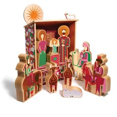 Alexander Girard Nativity, $600, now featured on Fab.