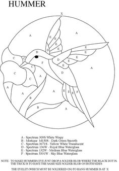 Stained Glass Panel Patterns | stained glass hummingbird pattern 5 10 from 64 votes stained glass ...
