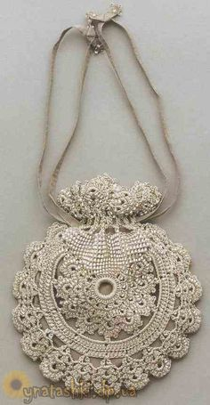 Reticule with beads