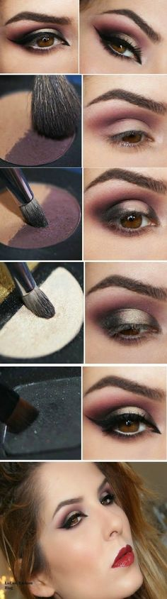 Eye Makeup Tips.Smokey Eye Makeup Tips - For a Catchy and Impressive Look Makeup Goals, Love Makeup, Sleek Makeup, Fall Makeup, Makeup Geek, Natural Makeup, Beauty Make-up, Beauty Hacks, Beauty Tips