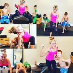Sunday sweat session!! I had 2 little workout buddies today!!! They hung in there all the way to the end!!!  I love when they ask me for a healthy lunch or a healthy snack and they want to workout with me!! Landon grabbed his 5 lb weights and was absolutely keeping up!! He even said hey mom do I look like I have some meat on my bones??? Love it!!!!  Setting a healthy example will grow into a healthy future for them too!!!  #sundaysweat #workoutbuddies #chisel #22minutehardcorps #doubleday…