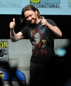 James McAvoy at 20th Century Fox Panel - Comic-Con International 2013 for X_Men: Days of Future Past on July 20, 2013.