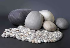 Pillows that look like rocks...made for Kathleen.